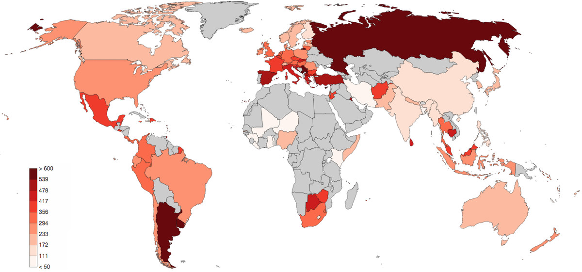 Map the most heavily policed countries in the world vox police per capita global gumiabroncs Image collections