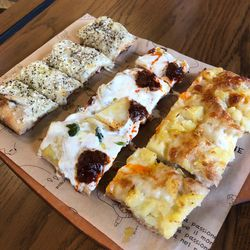 Various types of pan pizza at Bonci in Chicago. | Sun-Times staff