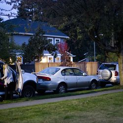 """Crissy Norton unloads her three daughters from one of the vehicles she lives in with her family as they go get dinner at Lake Washington United Methodist Church in Kirkland, Wash., on Sunday, Oct. 13, 2019. Norton, her husband Matthew Branstetter and three children have been using the Safe Parking program for the past several months, first becoming homeless in December 2018.The family is on a wait list for transitional housing and is hoping to hear back about an apartment soon. """"It's the only thing getting me through this week,"""" said Norton. """"We need this transitional housing more than anything."""""""