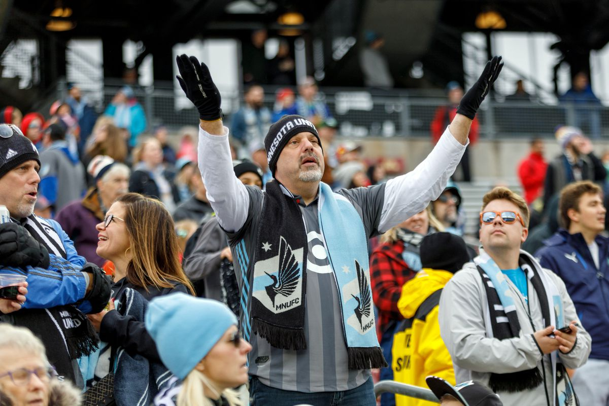 October 13, 2018 - Minneapolis, Minnesota, United States - Loons fans appear annoyed with the constant stoppage in play by the officiating crew during the Minnesota United vs Colorado Rapids match at TCF Bank Stadium.   (Photo by Seth Steffenhagen/Steffenhagen Photography)