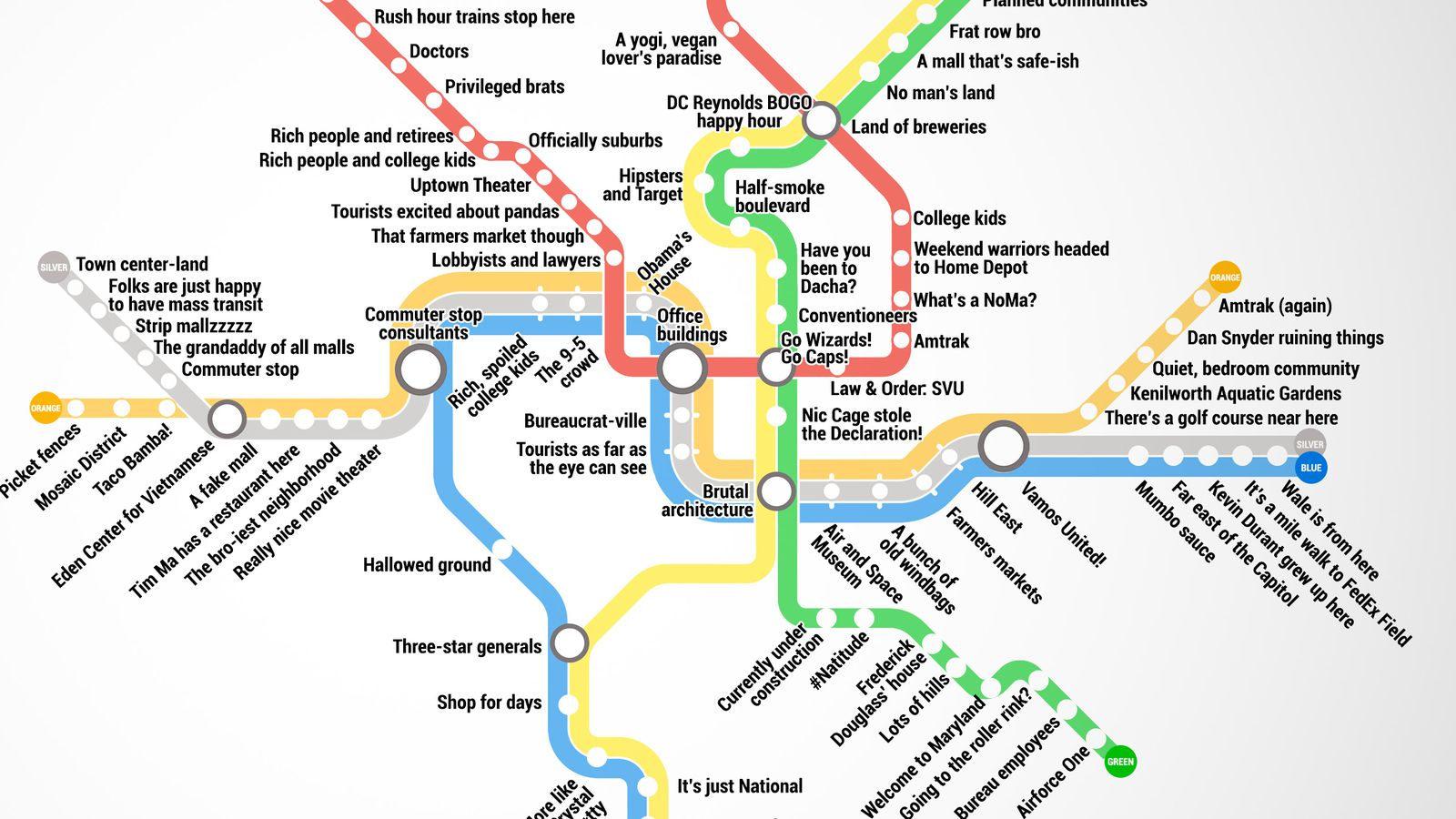 Thrillist just created the most accurate D.C. Metro map ever - Curbed DC