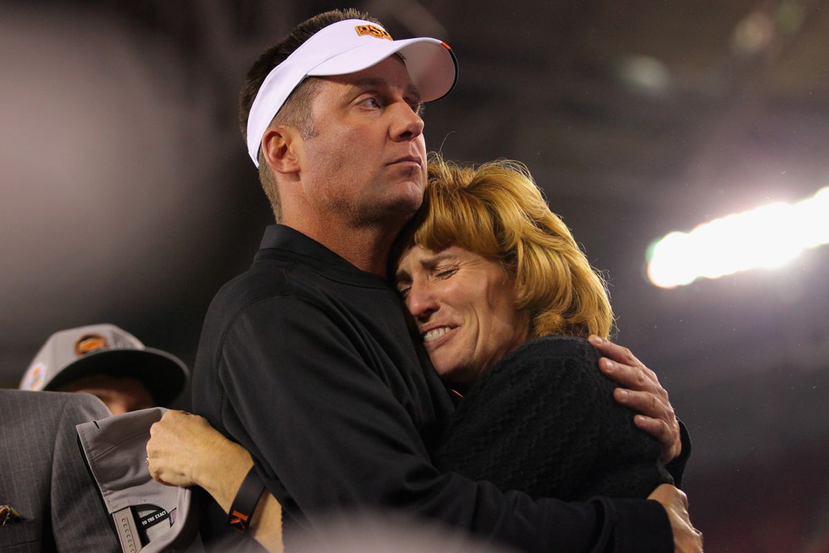 """Mike Gundy, seen here two verses into Lisa Loeb's """"Stay."""