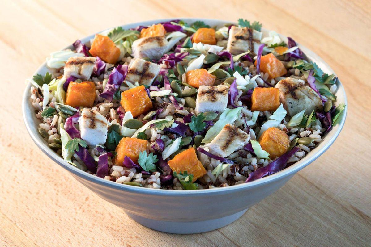The Bangkok salad at Mad Greens