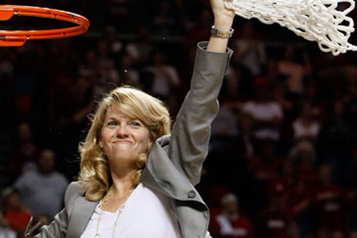 Odds aren't in our favor that we'll see this image in the coming days, but I've learned you never count out a Sherri Coale team.