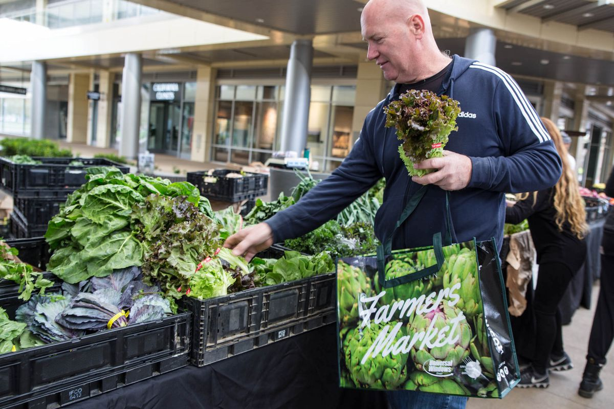 Rod Huebert, who owns the Las Vegas Farmers Market and Rod's Produce Market, converted his locations at Downtown Summerlin and Bruce Trent Park into drive-thrus.