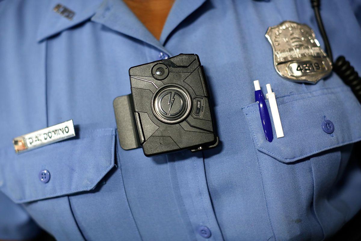 A police-worn body camera.