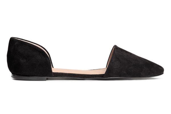 Black Open-sided Flats