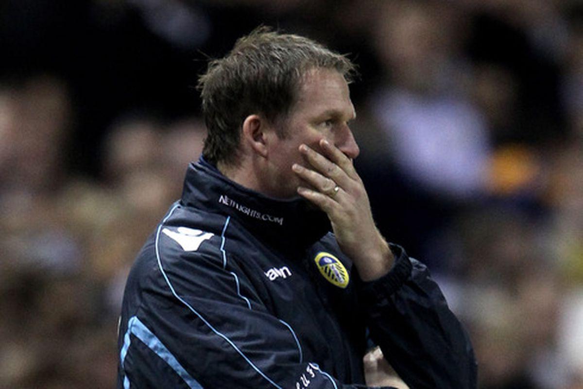 Simon Grayson's last act as Leeds boss was against The Blues last season.