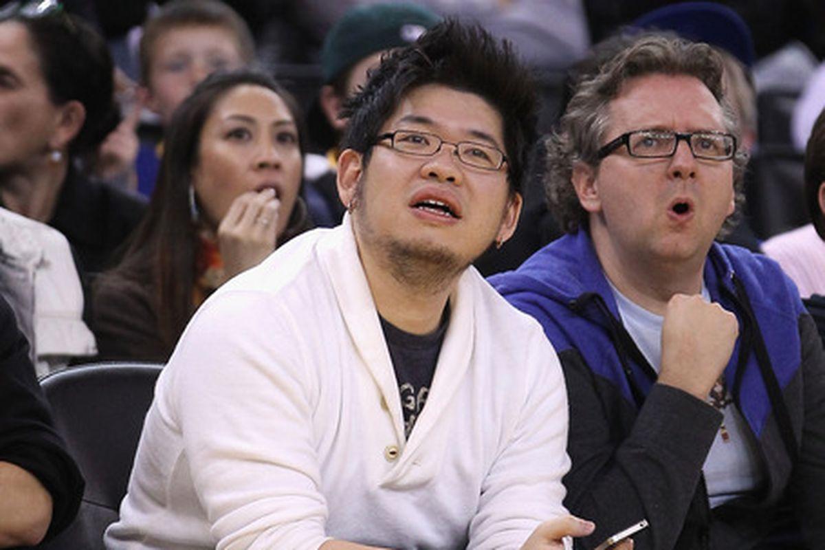 YouTube co-founder Steve Chen at an NBA game last season
