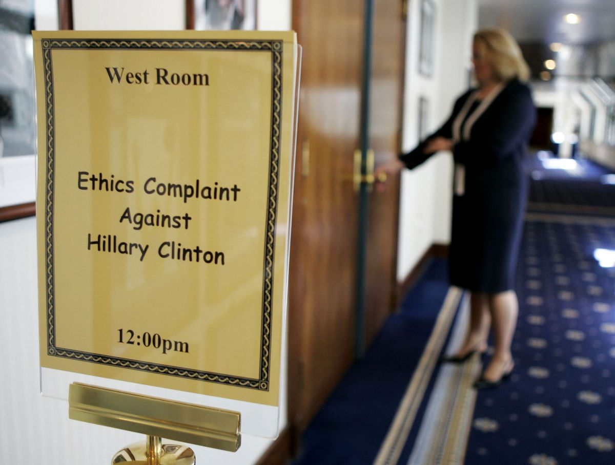 Sign from Judicial Watch hearing