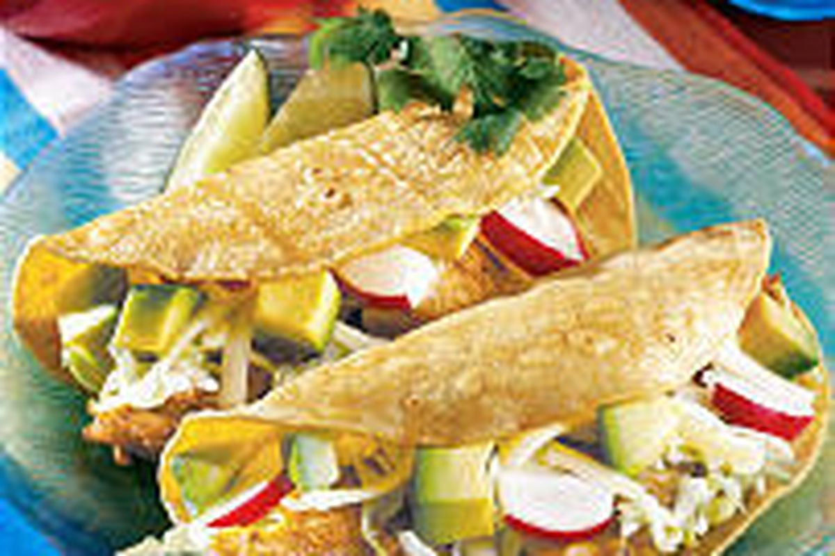 Grilled Fish Tacos give a new twist to south-of-the-border flavors.