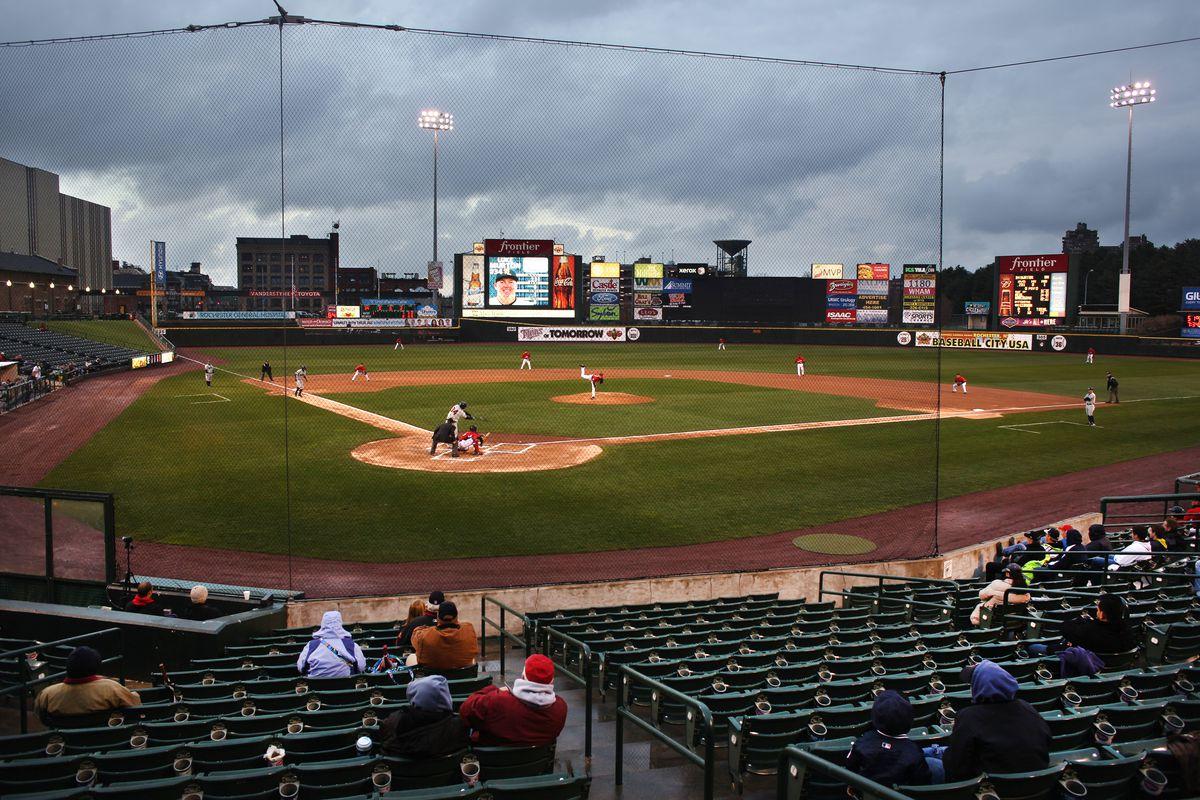 Baseball in America. Minor League Baseball. Rochester Red Wings V The Scranton/Wilkes-Barre RailRide