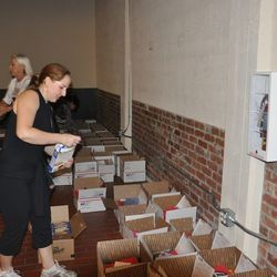 Prepping the care packages