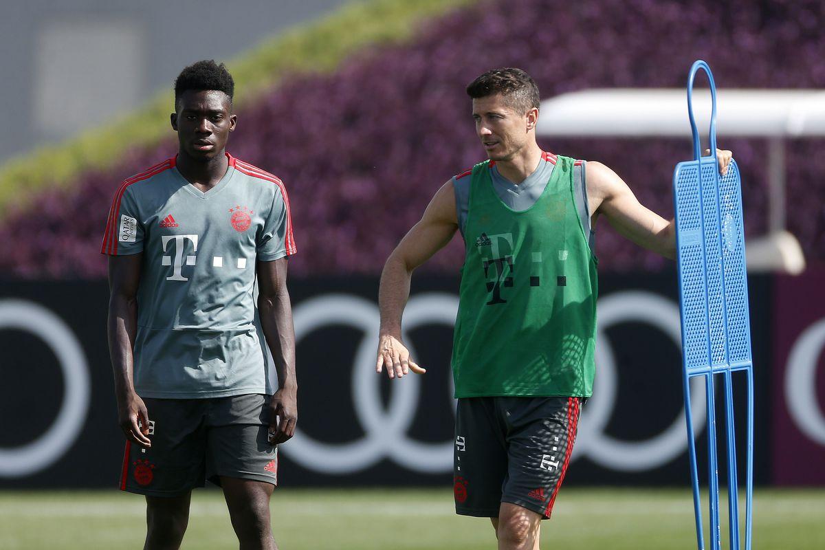 e4d961528 Bayern Munich s Robert Lewandowski backs Alphonso Davies for ...