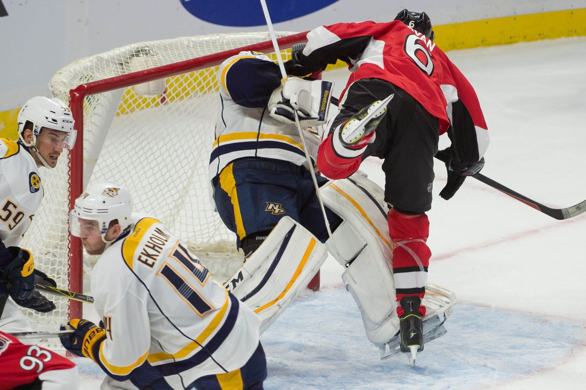 """Bobby Ryan tries out the move that will forever be known as """"The Lucic"""""""