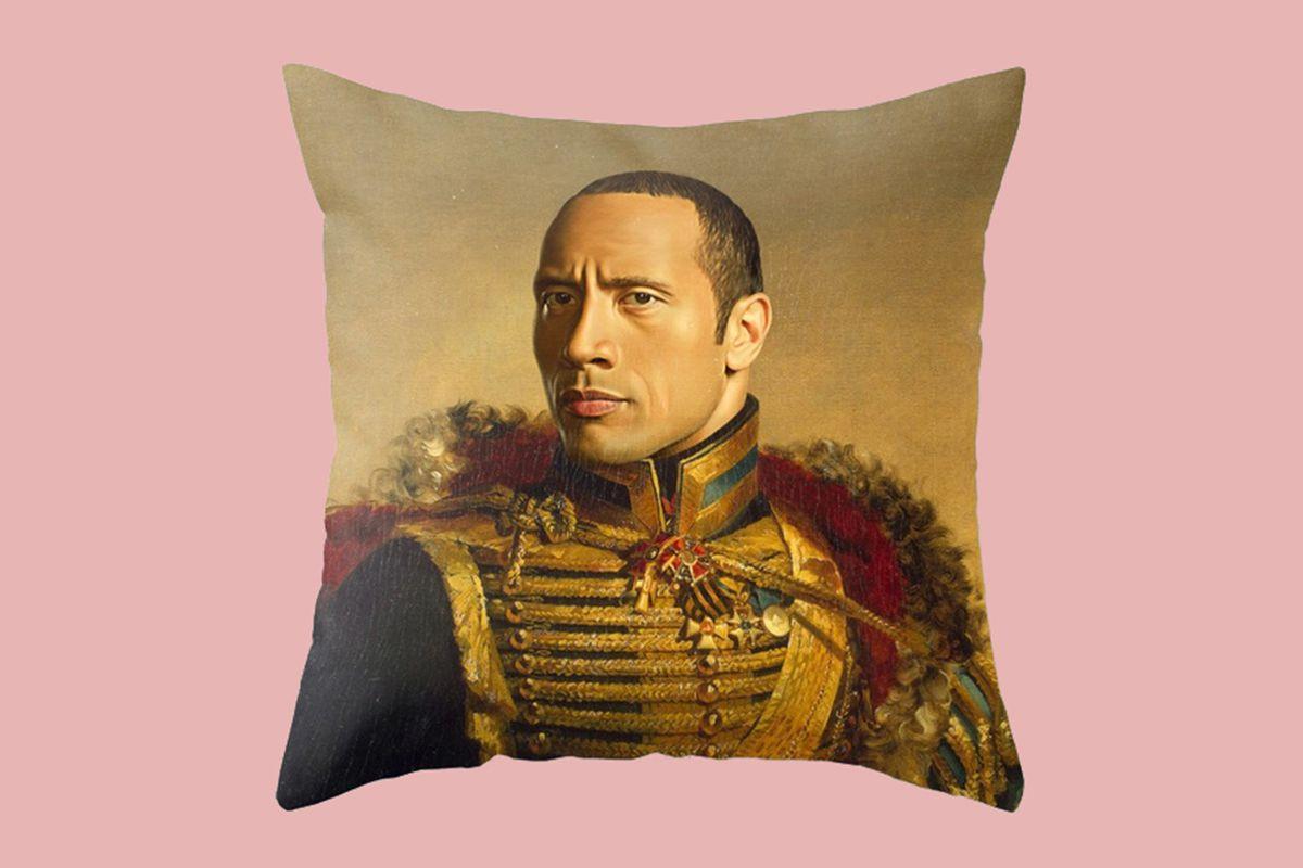 Replaceface Dwayne (The Rock) Johnson Pillow