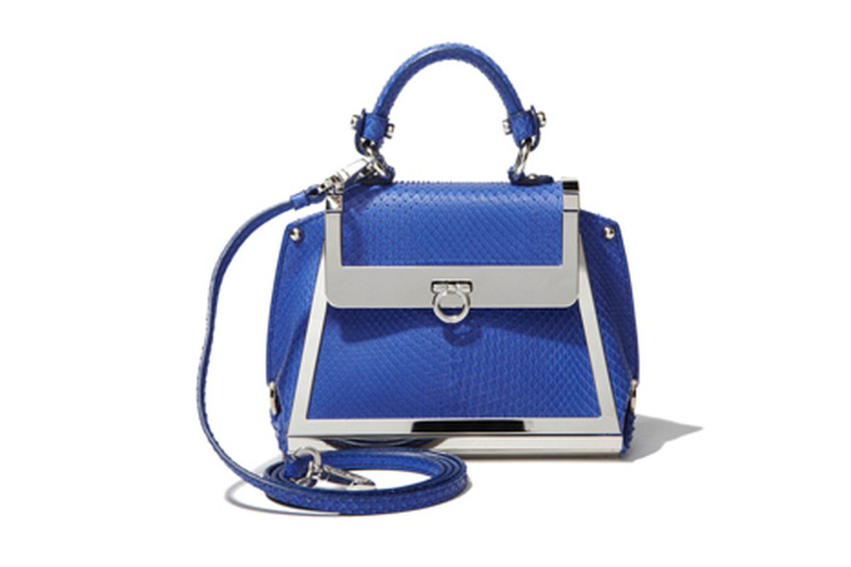 """The Ferragamo Mini Sofia retails for <a href=""""http://www.ferragamo.com/shop/en/usa/567019?fromSearch=true#pId=6148914691233551106"""">$2,650</a>"""