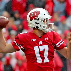 Jack Coan was 12 for 15 on the day versus Kent State, for 134 yards, 2 TDs and 0 INTs.