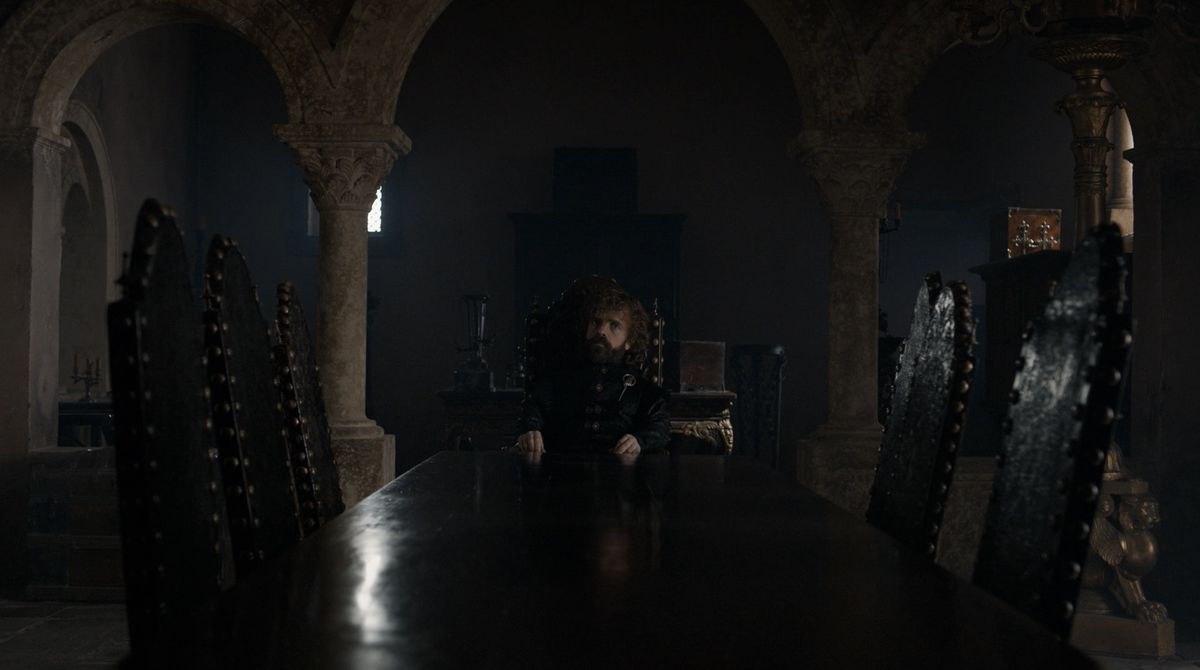 Game of Thrones S08E06 Tyrion at the table