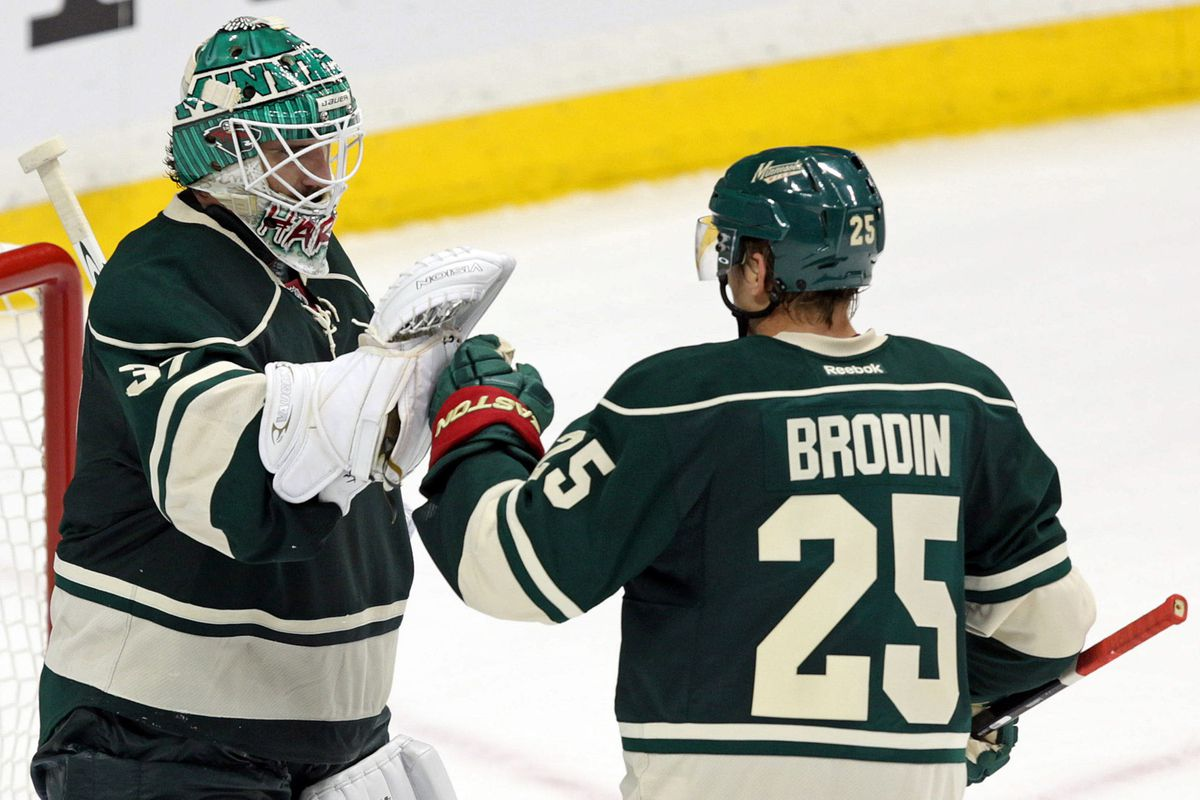 """""""I got this."""" - A fictional, but still probably accurate quote from Jonas Brodin on most nights."""