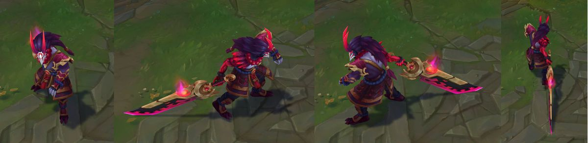 Blood Moon Tryndamere's in-game model