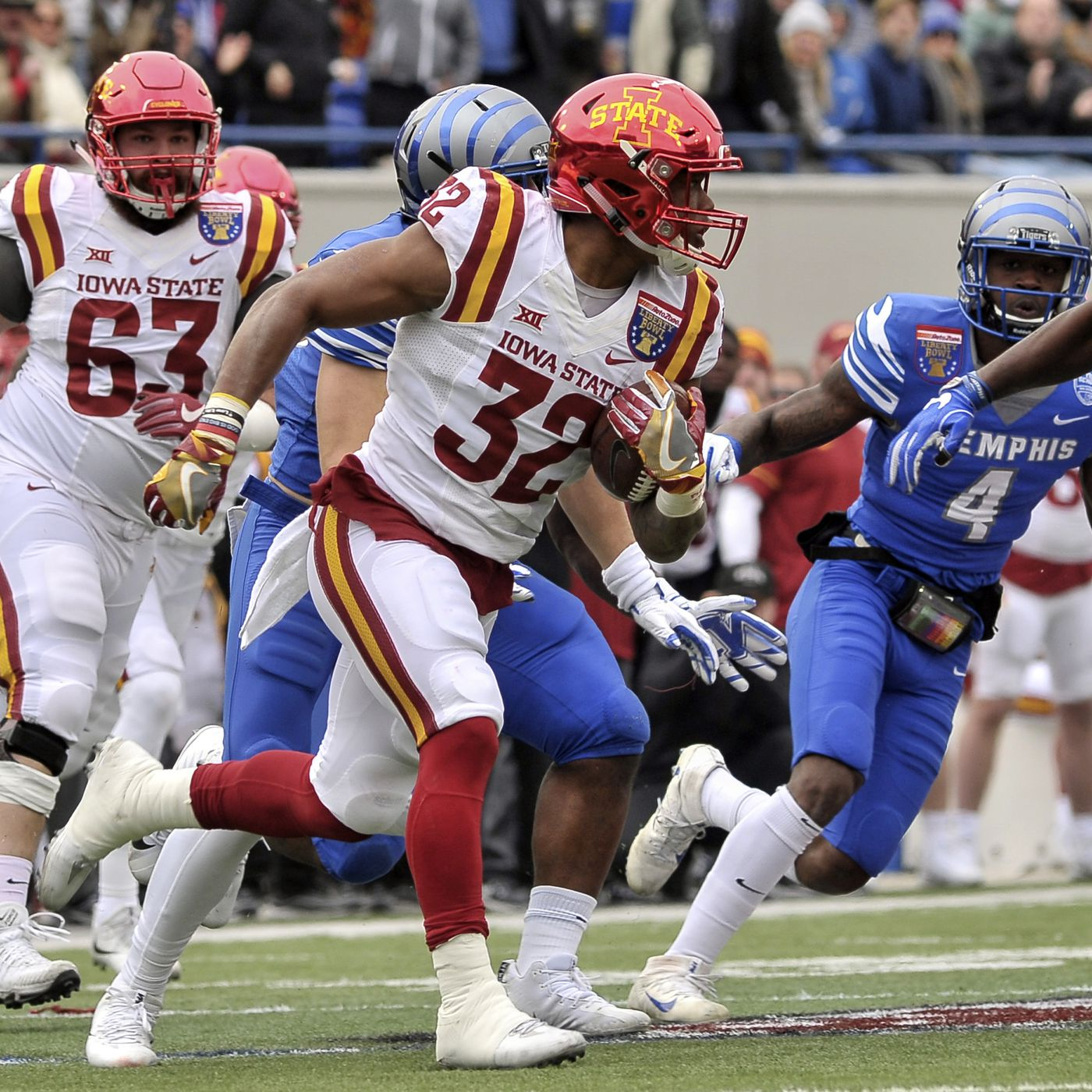 Iowa State Survives Memphis In The Liberty Bowl 21 20
