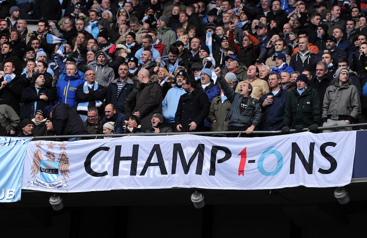 Soccer : Barclays Premier League - Manchester City v Manchester United