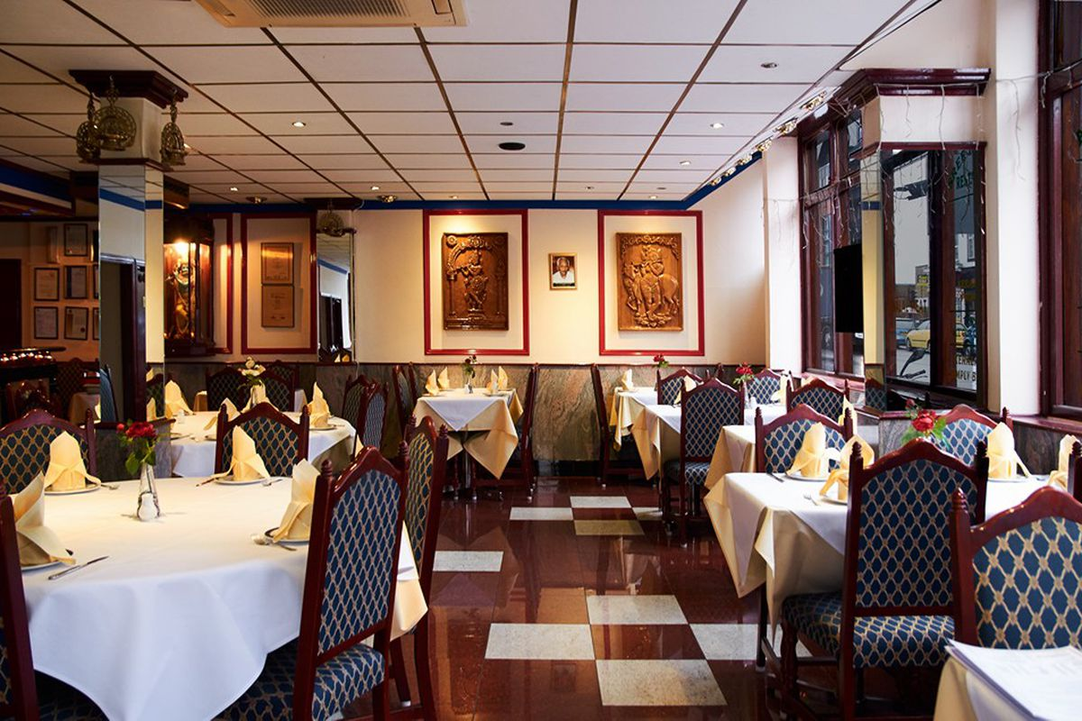 The dining room of Sree Krishna in Tooting —south London's first South Indian restaurant has closed after 47 years of service