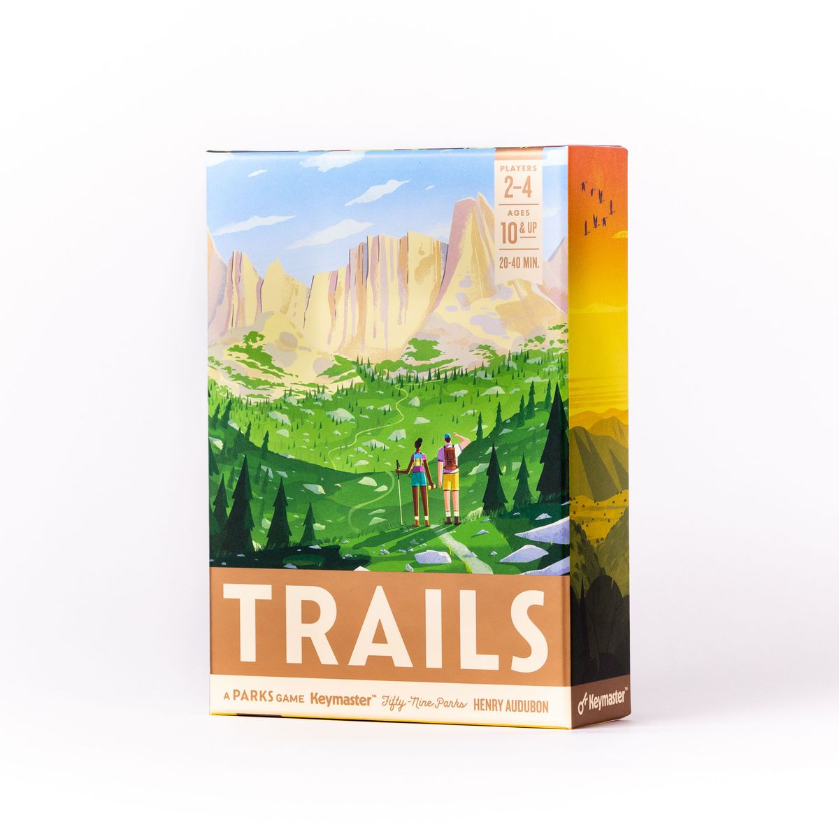 Cover art for Trails includes an image from the Fifty-Nine Parks Print Series: The Continental Divide Trail.