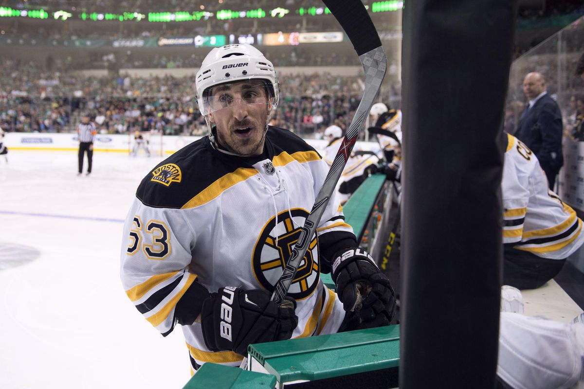That represents a lot of chirping... ( Brad Marchand)