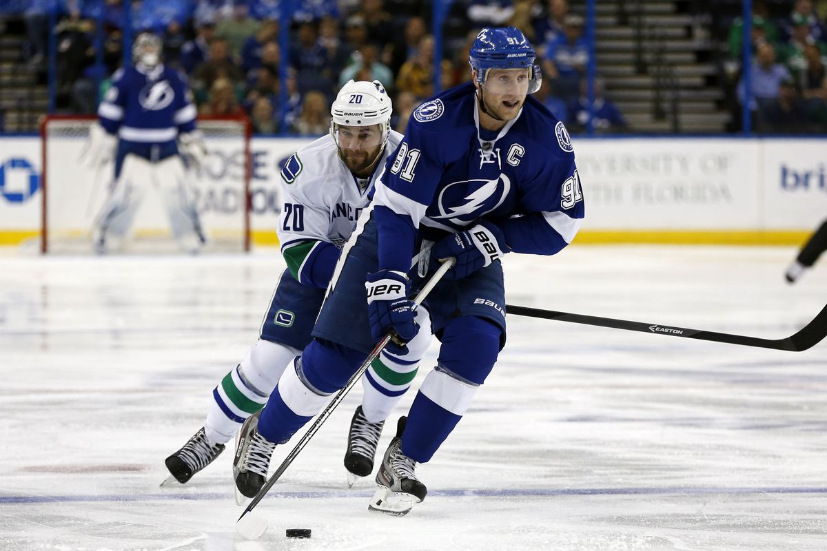 The Pacific the bottom tier Tampa Bay Lightning versus Vancouver