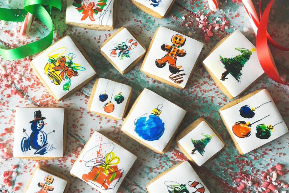 Kellie's Baking Co.'s cookies in collaboration with artist Ash Almonte
