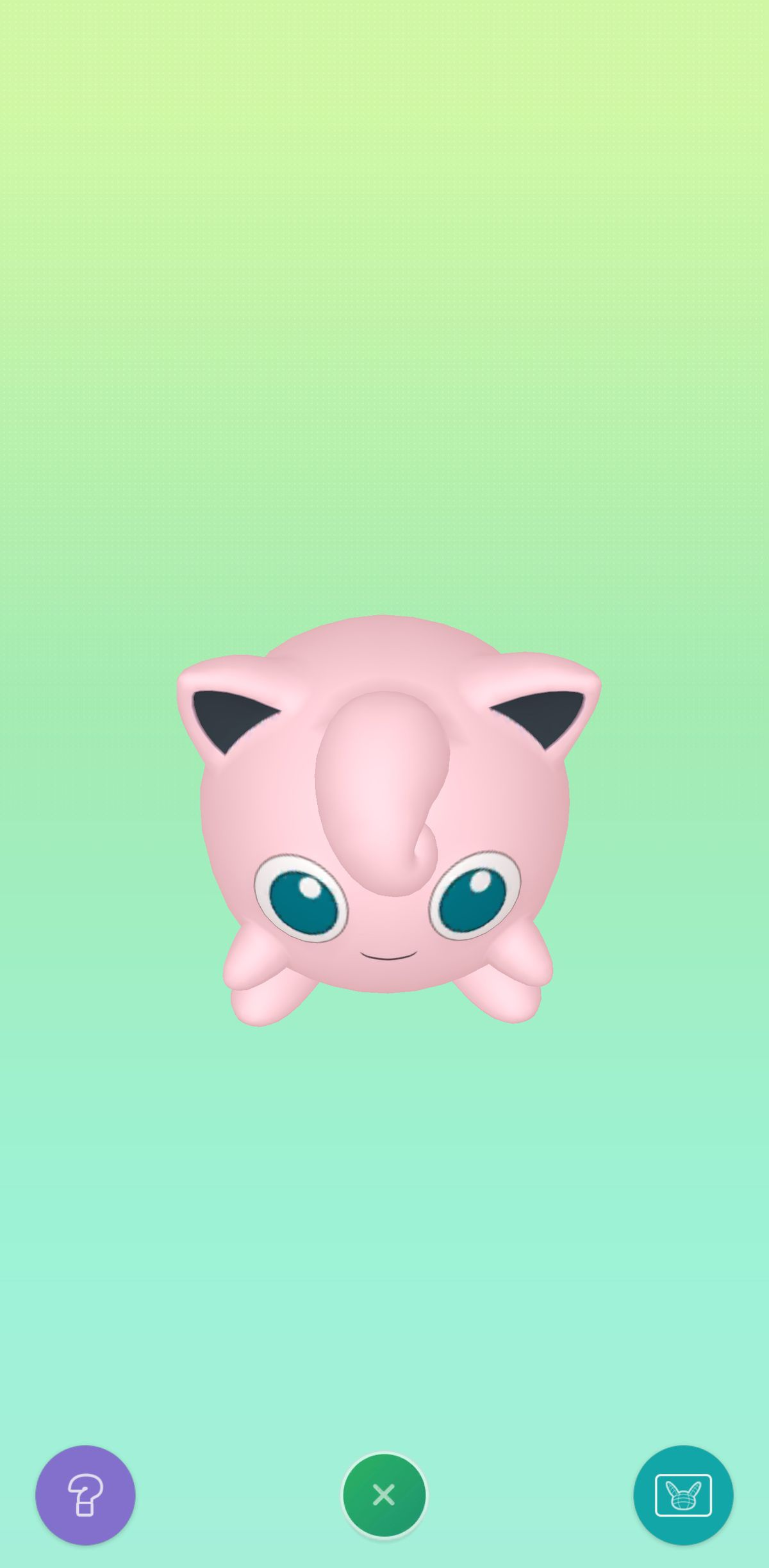 Jigglypuff viewed from above in Pokémon Home