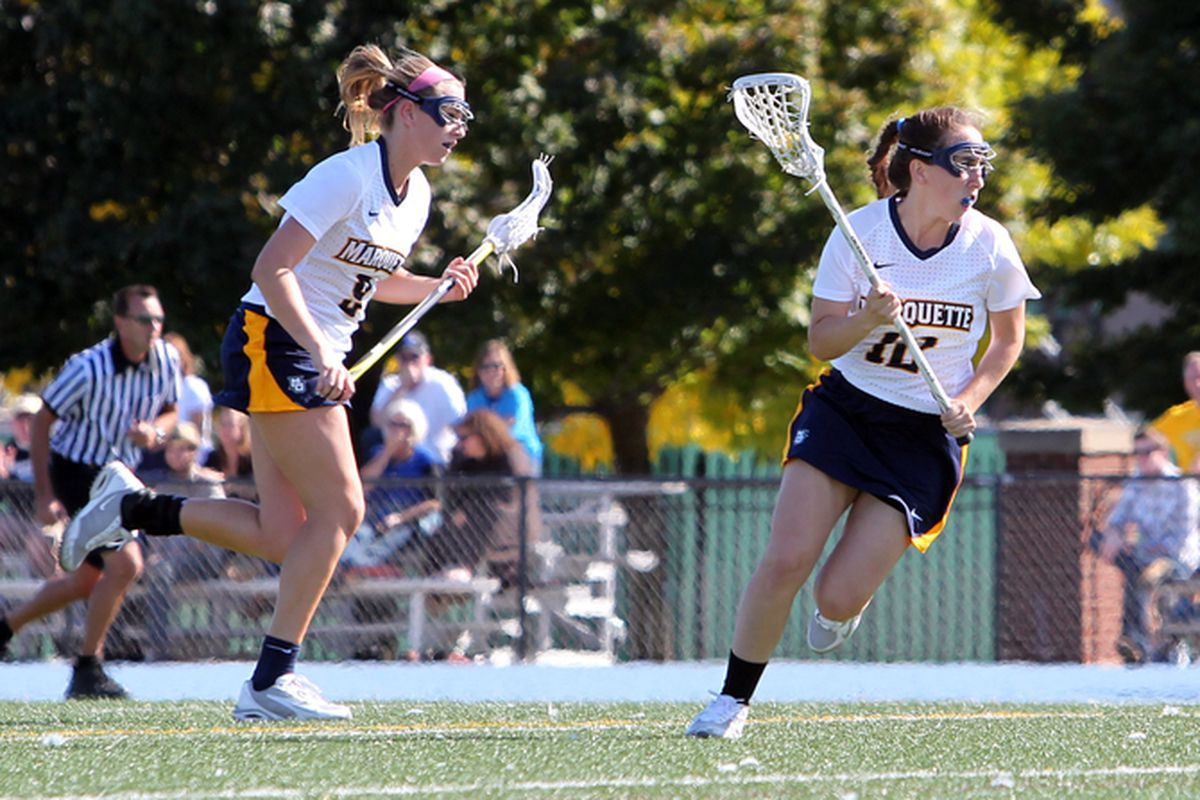 (L to R) Kenzie Brown and Claire Costanza are MU's high scorers through 7 games.