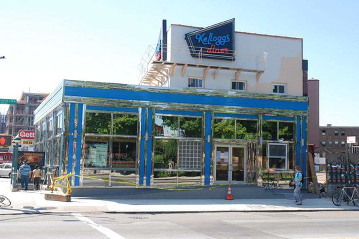 The blue Kellogg's Diner