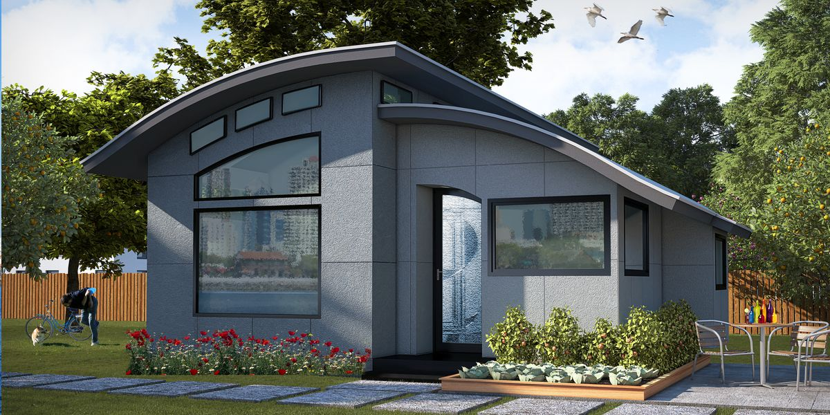 home outside design.  Prefab Flex House comes tricked out with smart home features Curbed