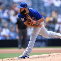 Jake Arrieta, Cubs starting pitcher on Saturday