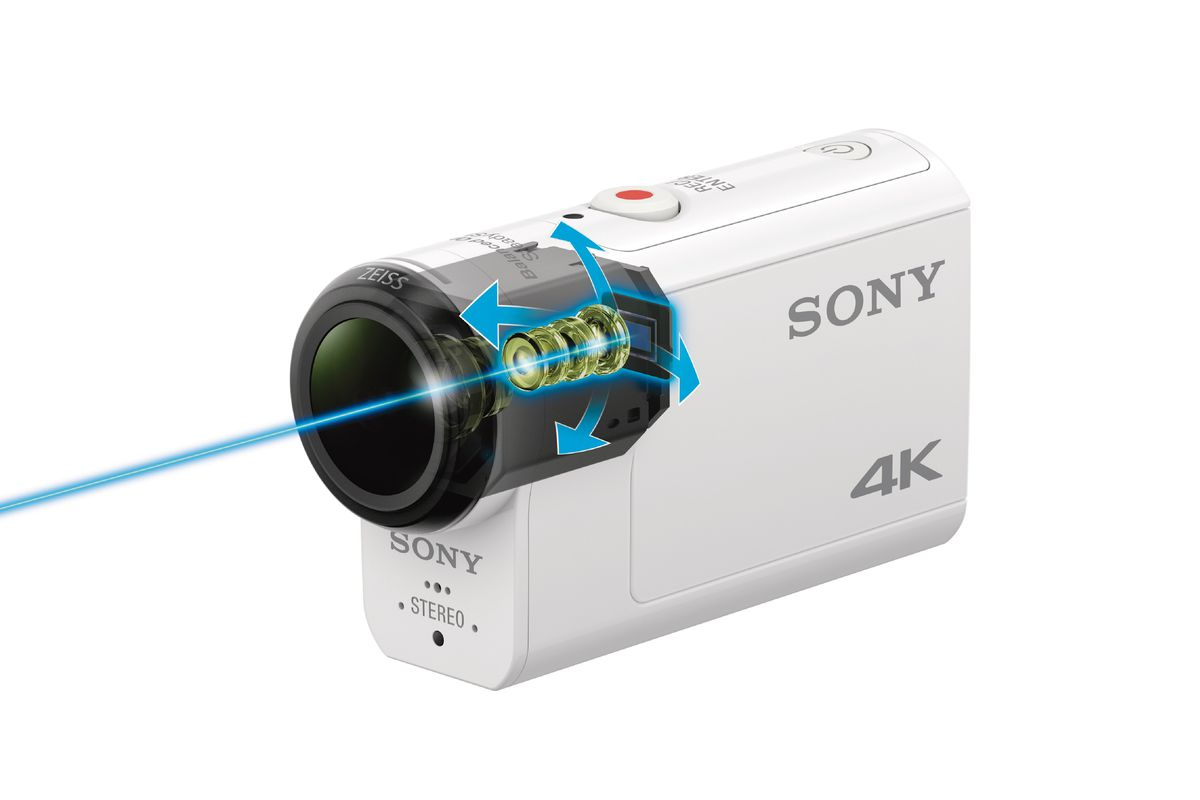 sony 39 s new 4k action cam has optical image stabilization. Black Bedroom Furniture Sets. Home Design Ideas