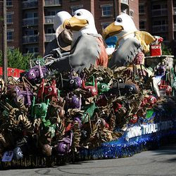 Murray Parkway Stake's Float wins the Outstanding Animation Award and People's Choice Award in the Days of '47 Parade in Salt Lake City on Saturday.