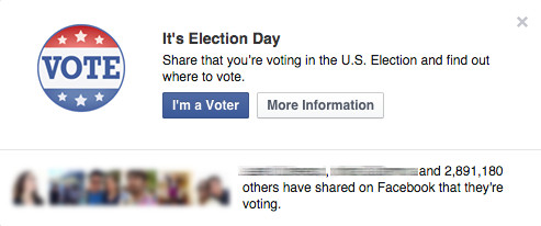 "Facebook's ""I Voted"" sticker was a secret experiment on its"