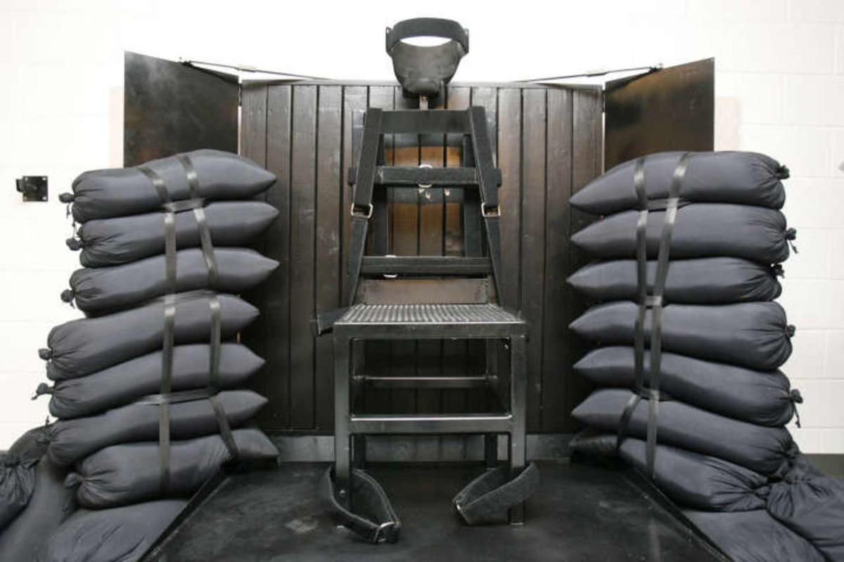 The execution chamber at the Utah State Prison after Ronnie Lee Gardner was executed by firing squad Friday, June 18, 2010.