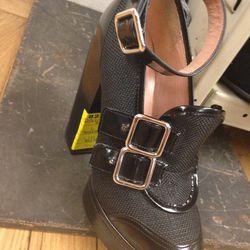 Carven lug-sole platforms, $336