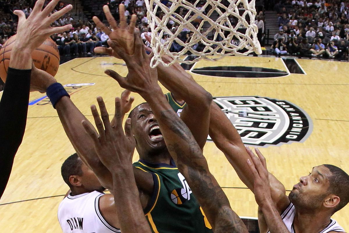 No Jazz player got a clean look at the rim in this one as the Spurs rolled.