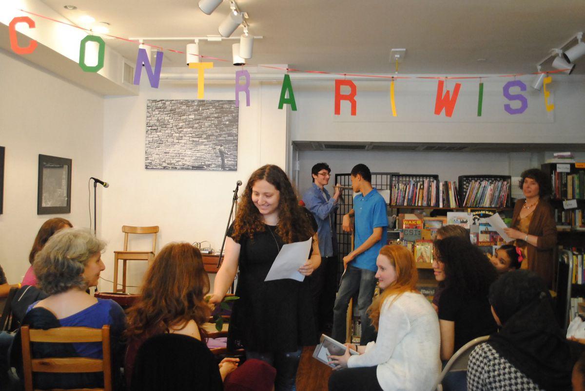 "Sofia Arnold conducting an ""empirical Shakespearean experiment."""