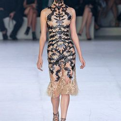 Alexander McQueen's ode to sheer, lace and embroidery-Fall 2012