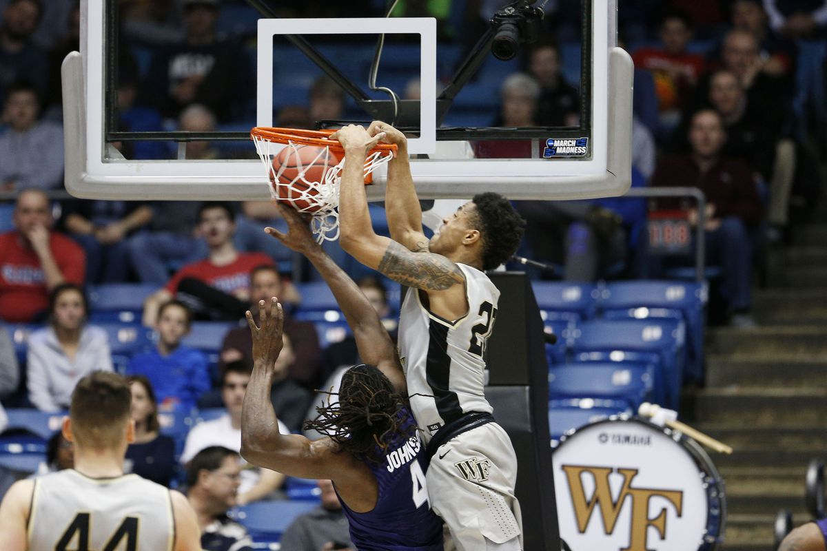 The Oklahoma City Thunder select John Collins from Wake Forest with the No. 21 overall pick in the Blazer's Edge 2017 NBA Mock Draft.