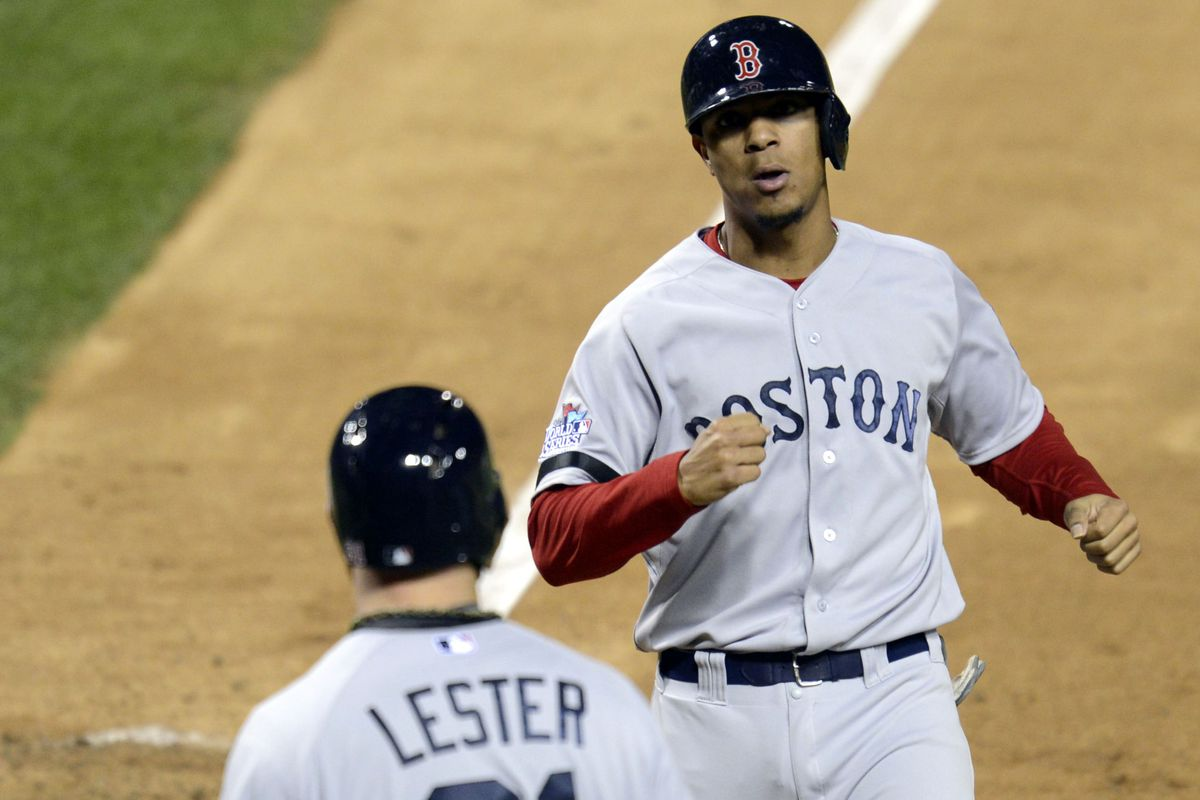 Only the finest road uniforms for Xander from now on. Eileen Blass-USA TODAY 6d1581174cc