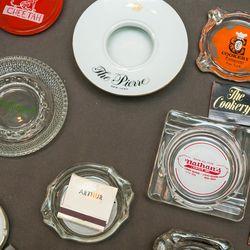 Vintage ashtrays, $75 to $350