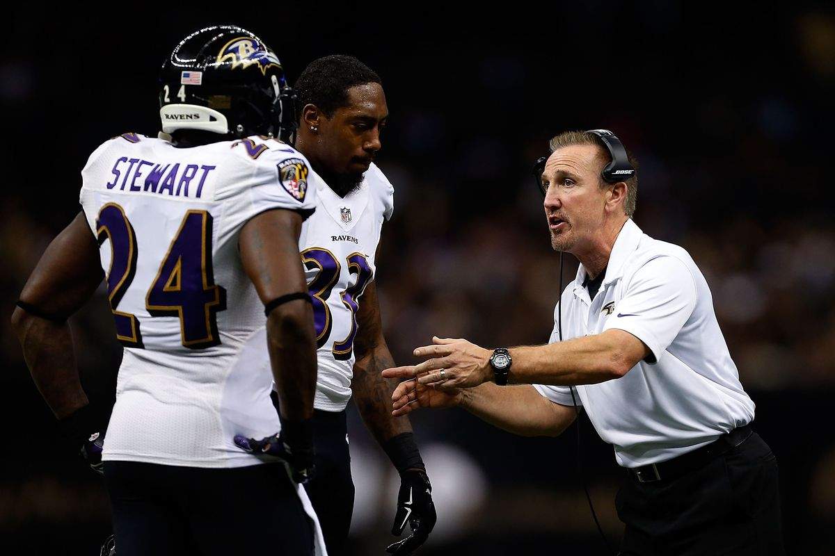 Steve Spagnuolo during 2014 with the Ravens