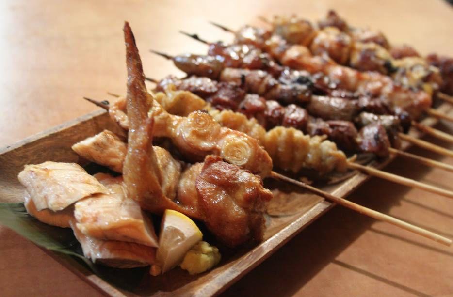 Mixed yakitori